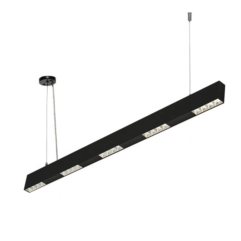 Linkable LED Linear Light 42W Dimmable Suspension Lighting Fixture residential, Aluminium linear led pendant lighting