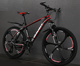 Bicycle FX Series Red Bicycle Mountain Bike Painted Interior Stickers Front Fork Shock Absorption Dual Disc Brakes Due Sports