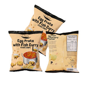 Normal Feature F.EAST Egg Prata with Fish Curry Potato Chips Spicy Vegetables Snack In Bag Packaging
