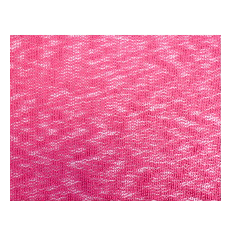 Wide Range of Premium Quality Luxury 100% Polyester Hot Pink Crepe Poly Slub Hacci Knit Fabric