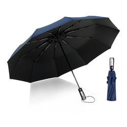 One-click open UVA handmade ten bone anti-wind automatic umbrella for sunny and rainy days