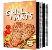 2020 Top Selling 5 Pack BBQ Mat Mesh Grill Mat Heavy Duty Reusable Non Stick Protective Mat for Outdoor Grilling