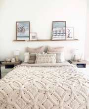 super luxurious pompom handmade cotton woven decorative  throw blanket