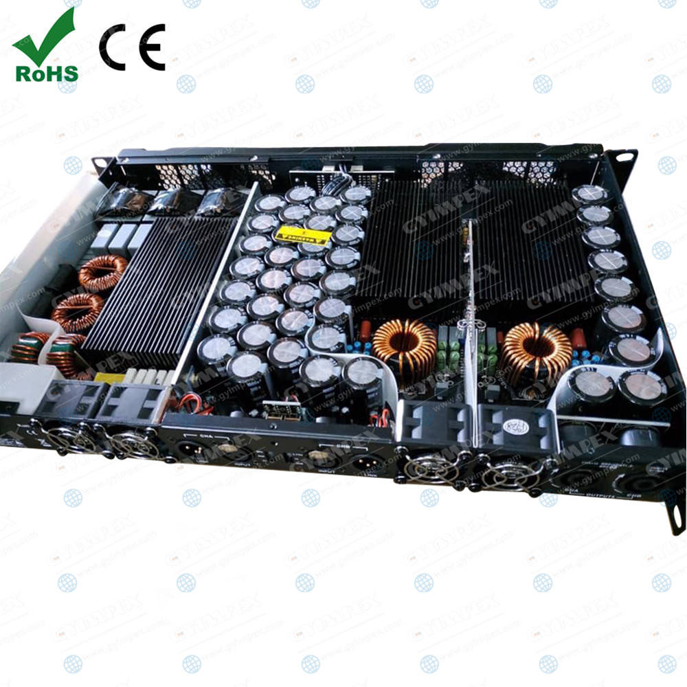 Hot fashion 2400W 8ohm stadium gym use 3800W rms 4ohm power amplifier audio cheap products in china