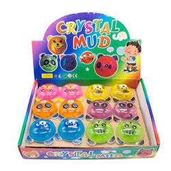 Magic Crystal Slime Putty Toy Soft Rubber Panda Slime for Kids 6.5cm