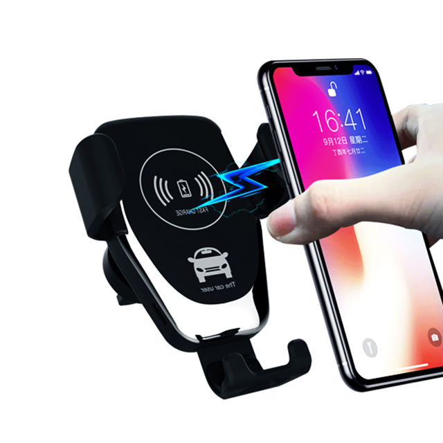 UUTEK Q12 2019 mobile holder fast wireless charging wireless car charger with holder
