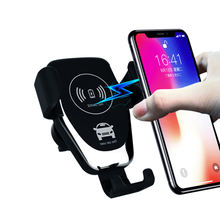 UUTEK Q12 2019 mobile  holder fast wireless charging wireless car charger with holder for iPhone Samsung