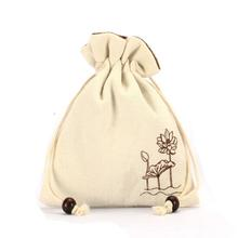 Custom packaging organic Pouch cotton filter bag fabric cloth bags Manufacturer