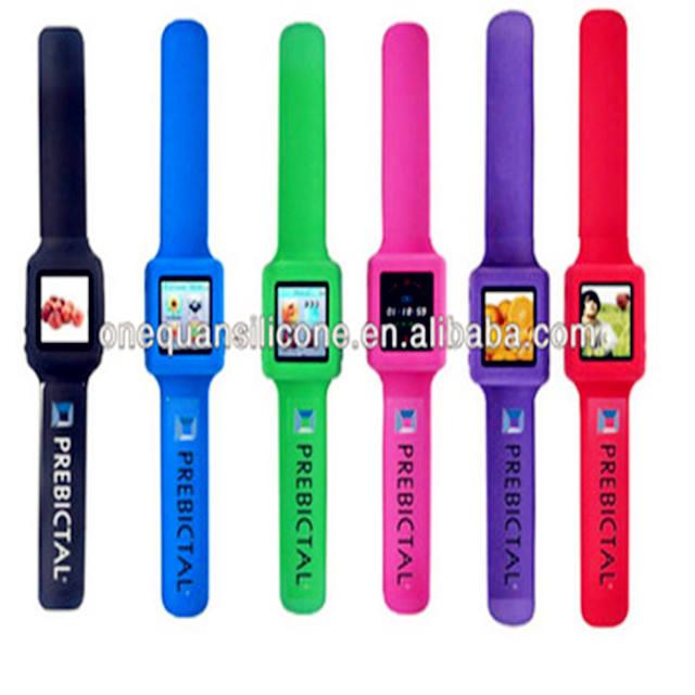 Мода цифровые силиконовые шлепки MP4 часы, дешевые MP4 часы