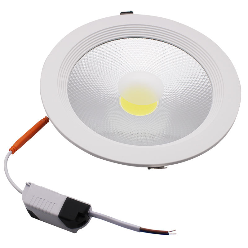 20pcs 30watt Wholesale aluminum flat cob led 5w 10w 15w 20w 30w recessed downlight Embed cob downlight