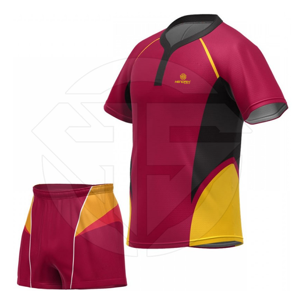 Name & Number Sports Wear Rugby Uniform For Youth