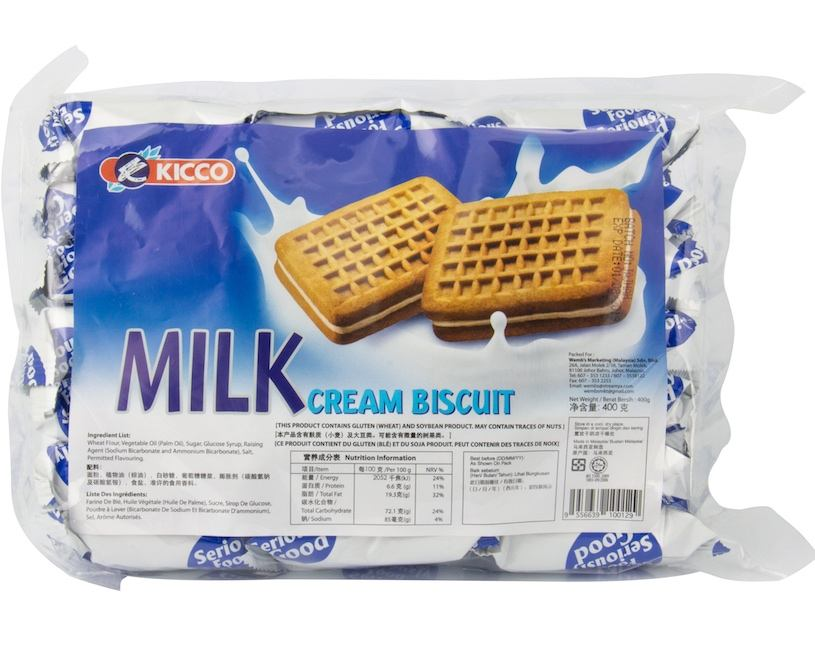 Kicco Milk Creamy Center Filled Sandwich Biscuit