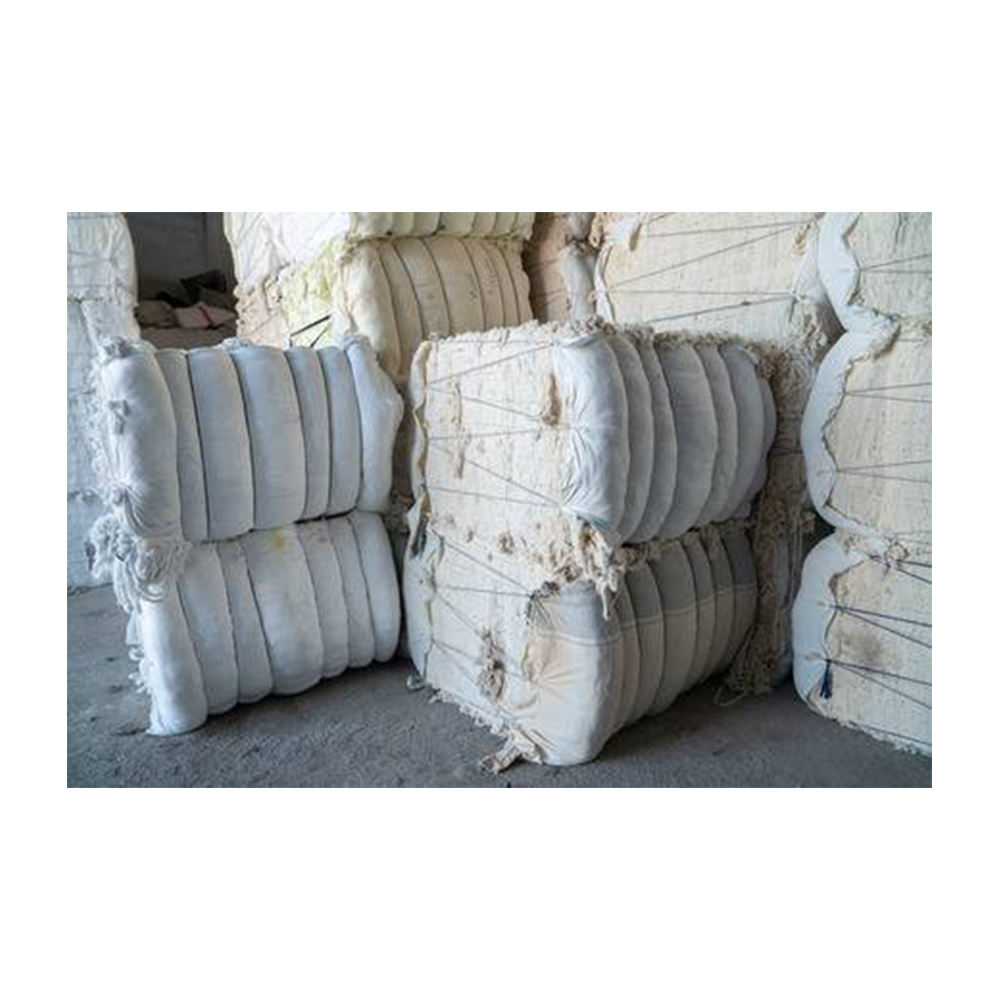 White cotton wiper rags in bales / textile waste rags clips Bangladesh