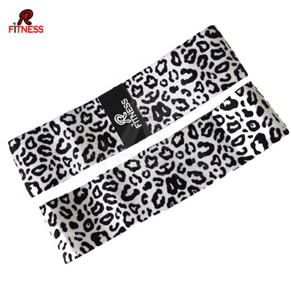 New cheetah design booty bands custom logo Sublimation Hip Circle resistance