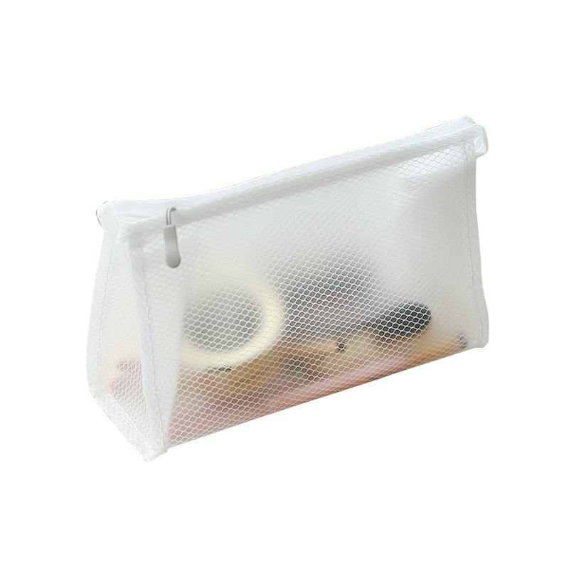 Hot Sales Custom Waterdichte Draagbare Clear Pvc & Mesh Outdoor Cosmetische Toilettas Travel Opslag Pouch Make Up Tas