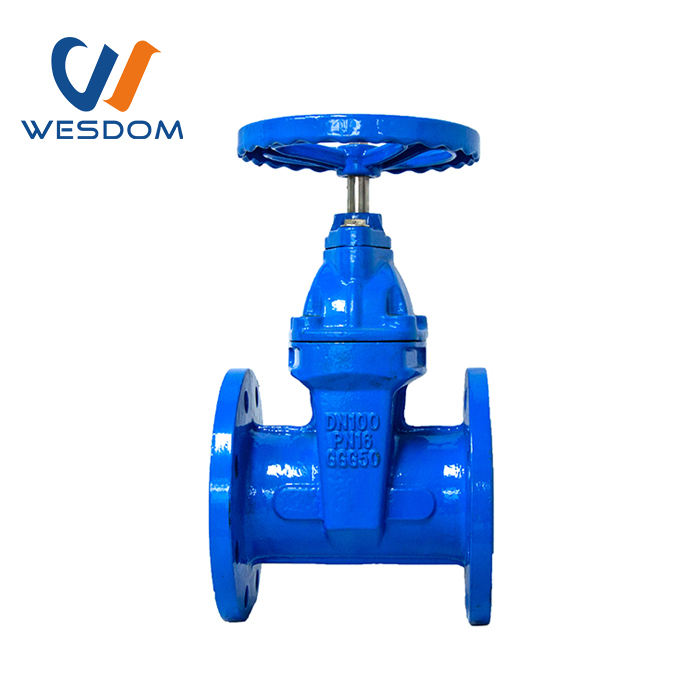 DIN F4 Cast Iron Soft Seal Gate Valve Using In Water System