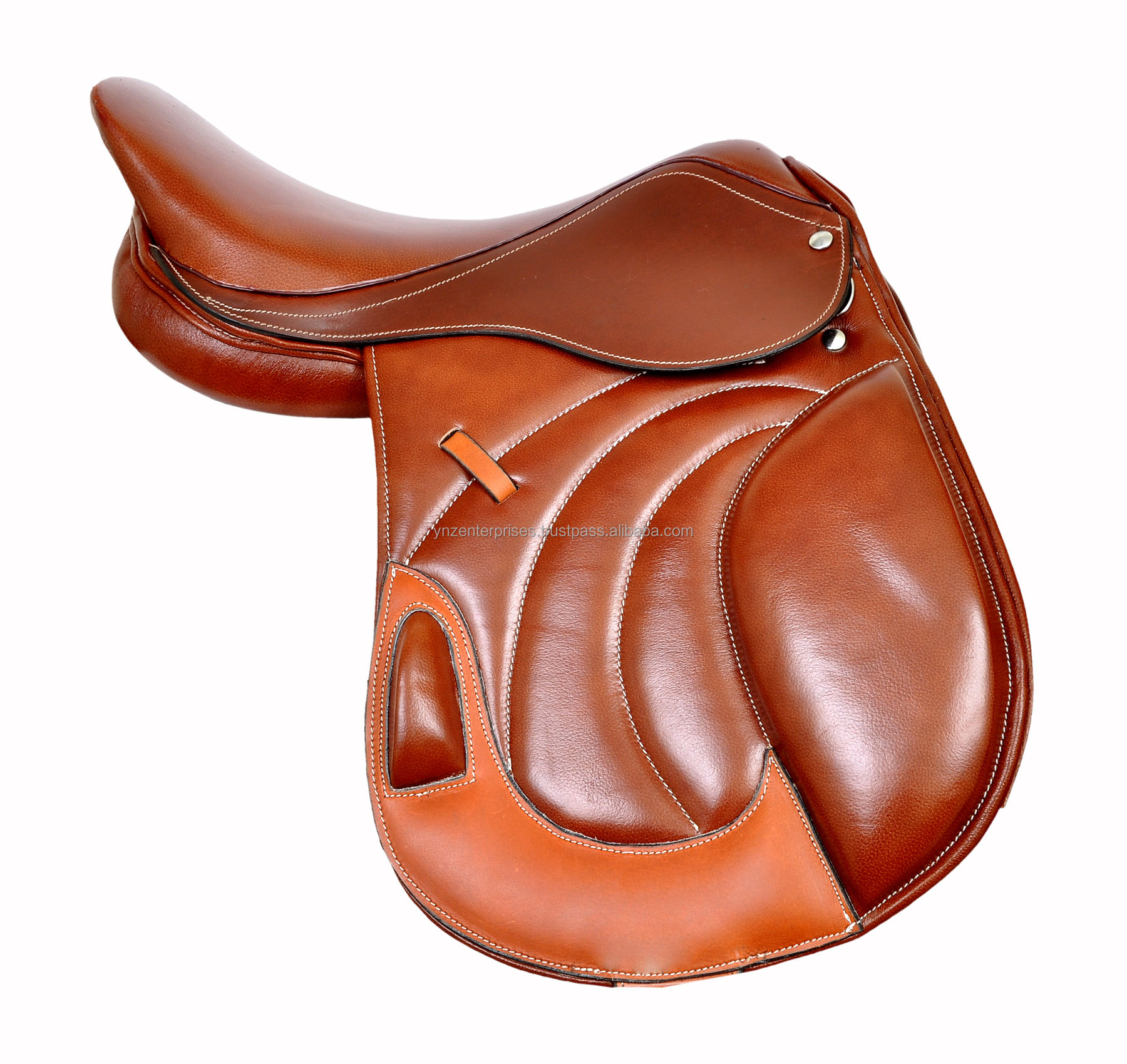 Premium Leather English Jumping Close Contact Horse Saddle And Tack Adult CLCON-003 Seat Size 14-18