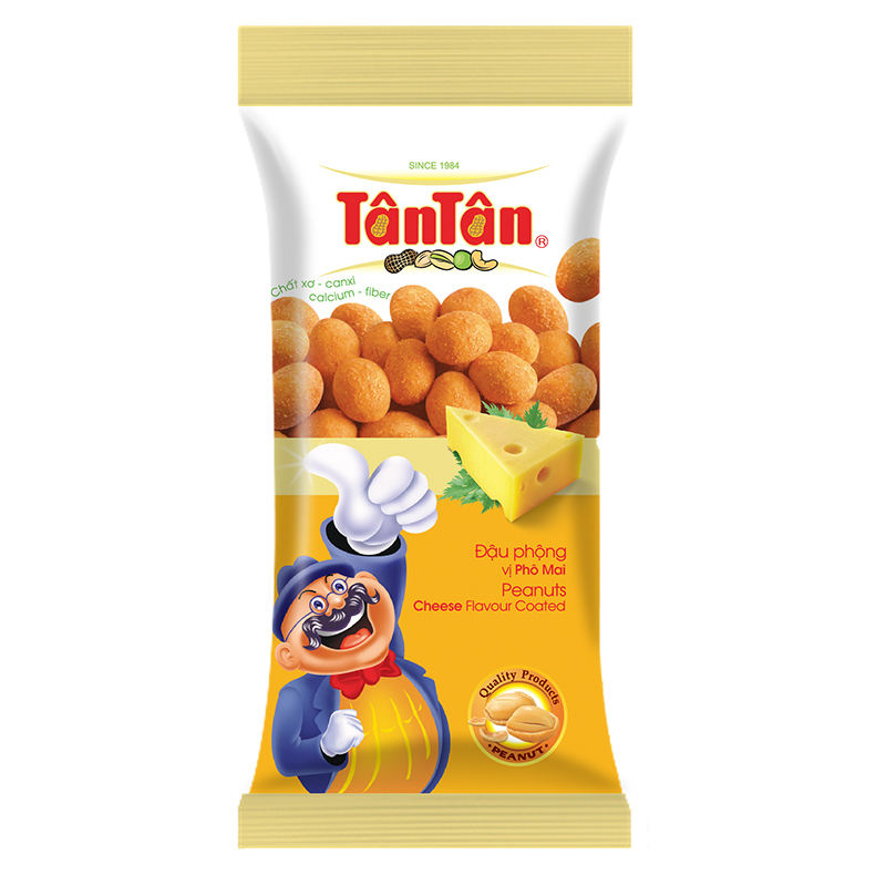 HOT SELLING 30 gr PEANUT CHEESE FLAVOUR COATED Top Quality and Sweet Taste Made In Vietnam