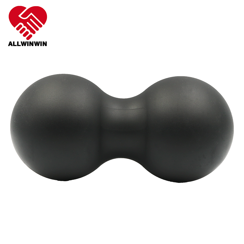 ALLWINWIN PMB03 Peanut Massage Ball - 21cm TPR Smooth Double Lacrosse Twin Back Roller Target