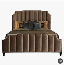 Luxury Upholstered headboard and footboard fabric bed