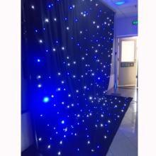Adjustable backdrop pipe and drape with curtain led lights for show