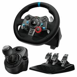 Logitech Driving Force G29 Racing Wheel and Gear Shifter Bundle