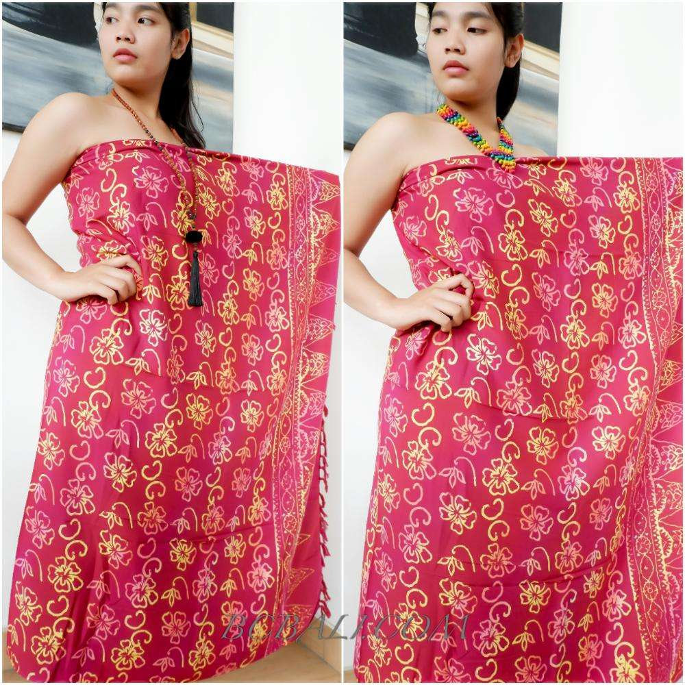 Bali Rayon Batik Sarong Beachwear Island Tropical Design Wholesale Price From Bali Quality Export