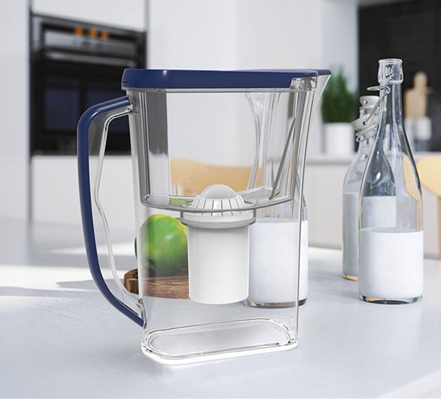 china factory water jug filter pitcher minerals activated carbon cartridge coconut fiber replacement pitcher