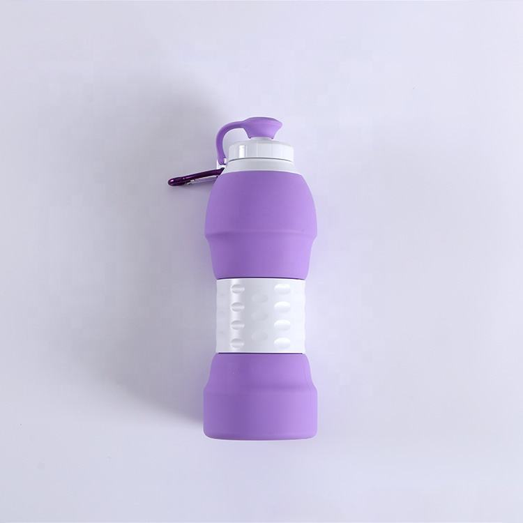 2020 Hot Selling Outdoor Sport Big Custom Silicone Collapsible Cup Silicone Water Bottle
