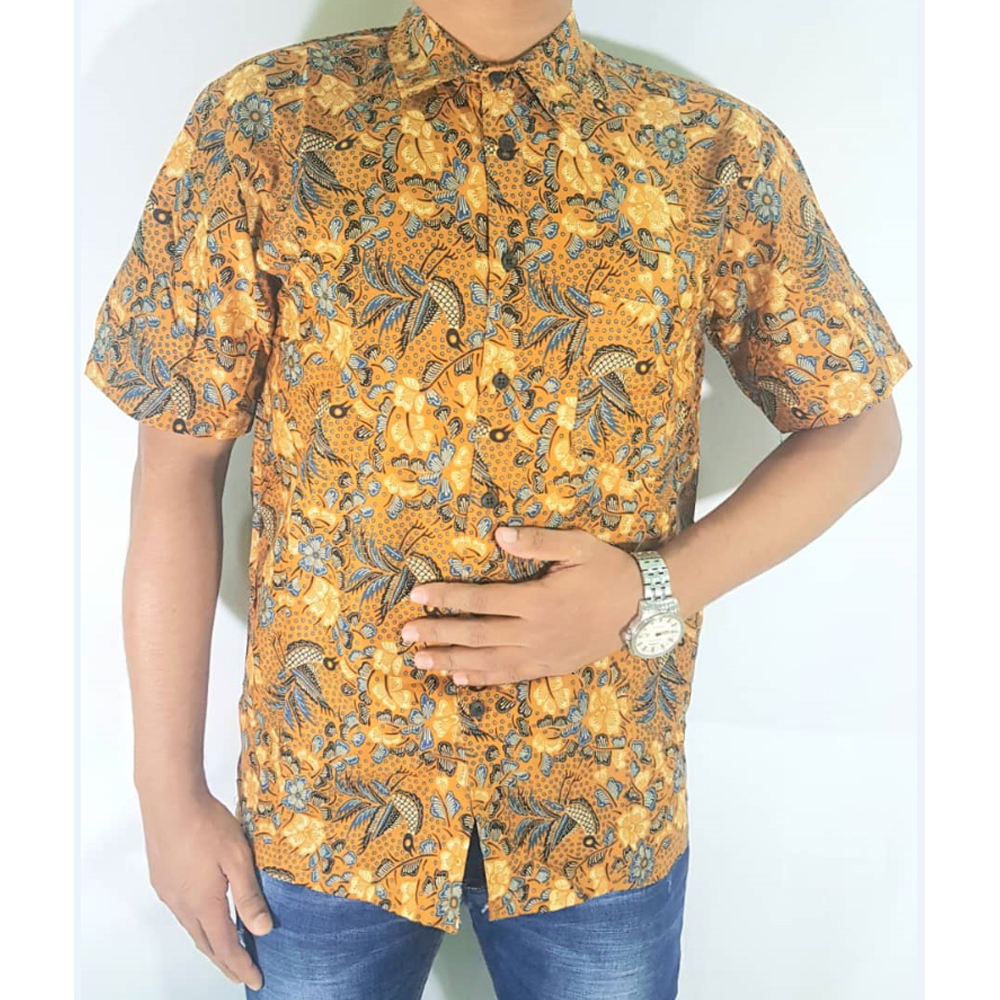 Men Casual Short Sleeve Batik Shirt 100% Cotton S To XXL High Quality In Lowest Price Ever