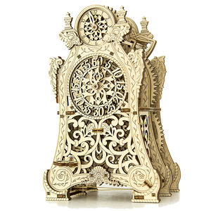 Wooden.City - MAGIC CLOCK - WR312 Wooden Puzzle Mechanical Model 3D Puzzle STEM Gift
