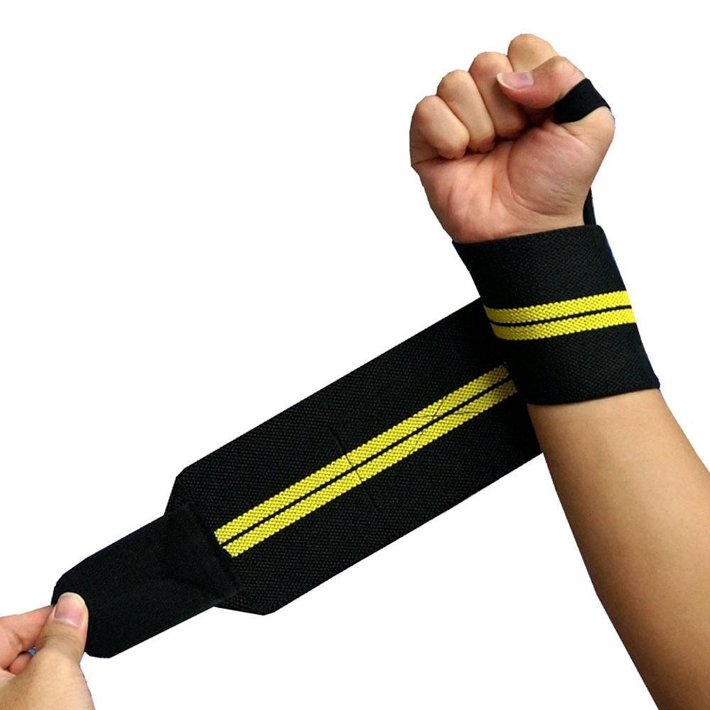 Wraps for Weightlifting with Thumb Loop Wrist Support Brace with Elastic Bandage