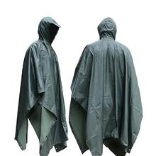 Raincoat Rain Cape Solid Color or Camouflage Waterproof Breathable Military Poncho