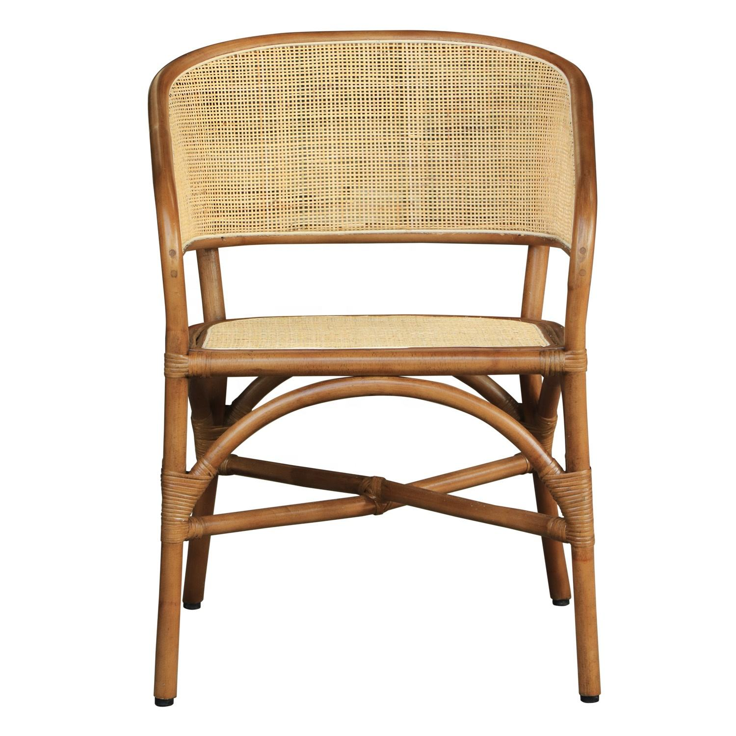 Natural Rattan Occasional Living Room Chair with Arm Home Furniture