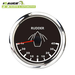 85mm electrical -40~40 rudder angle black face waterproof rudder angle gauge for marine