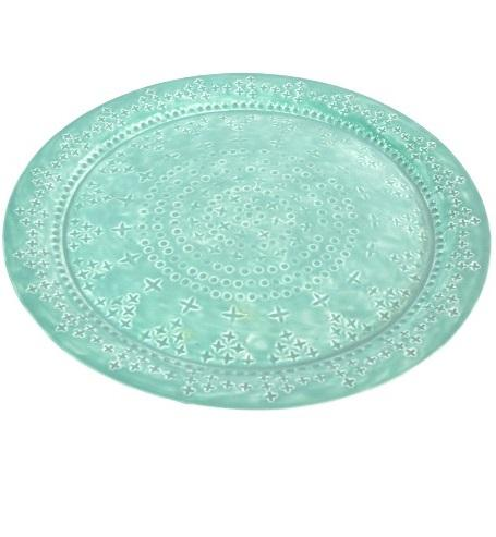 High quality Cheap Anti slip Large Stackable Plastic Round Serving Tray