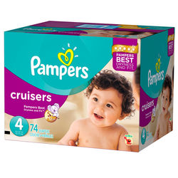Pampers Active Baby Diapers 4 Maxi 74 pieces