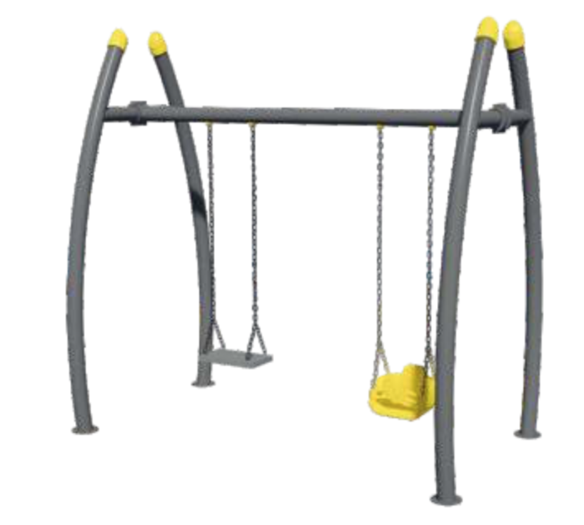 Simple Design European Standard Outdoor Double Seats Swing Equipment