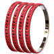 Red Color Dotted Lining Lac Bangle Beautiful Color Lac Bangle LAC Bangle Manufacture In India