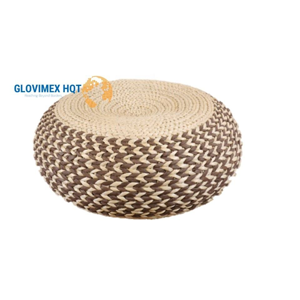 Extreme Comfort Flat Seat Steel Frame Water Hyacinth Floor Cushion For Home Decor