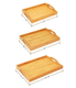 Bamboo Trays Set Bamboo Serving Wood Bamboo Trays Set Of 3 With Handles For Food Breakfast