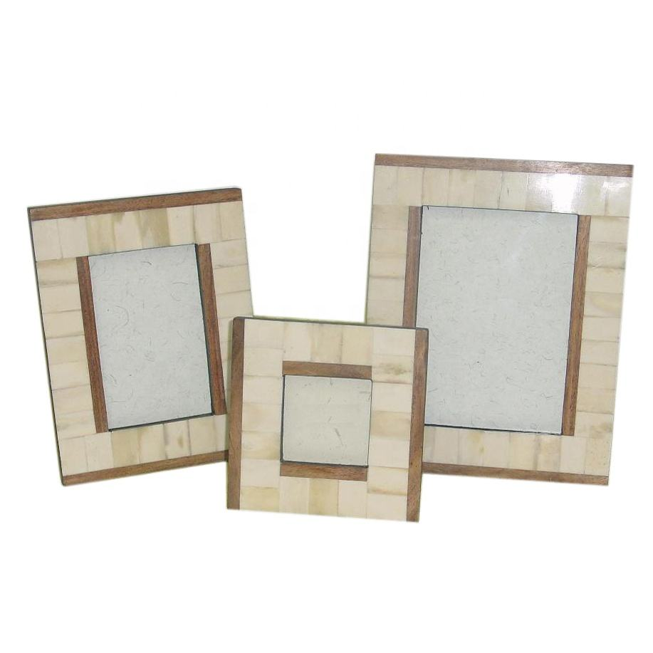 Dual Color design Bone picture photo frame 3x3 4x6 5x7