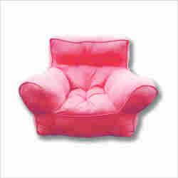 "Kid's Sofa	Cotton Duck	Solid	Recycled Poly Fiber	Peach	""20 H x 20 W x 20 D; Seating Height: 6.5 (all dimensions in inches)"""