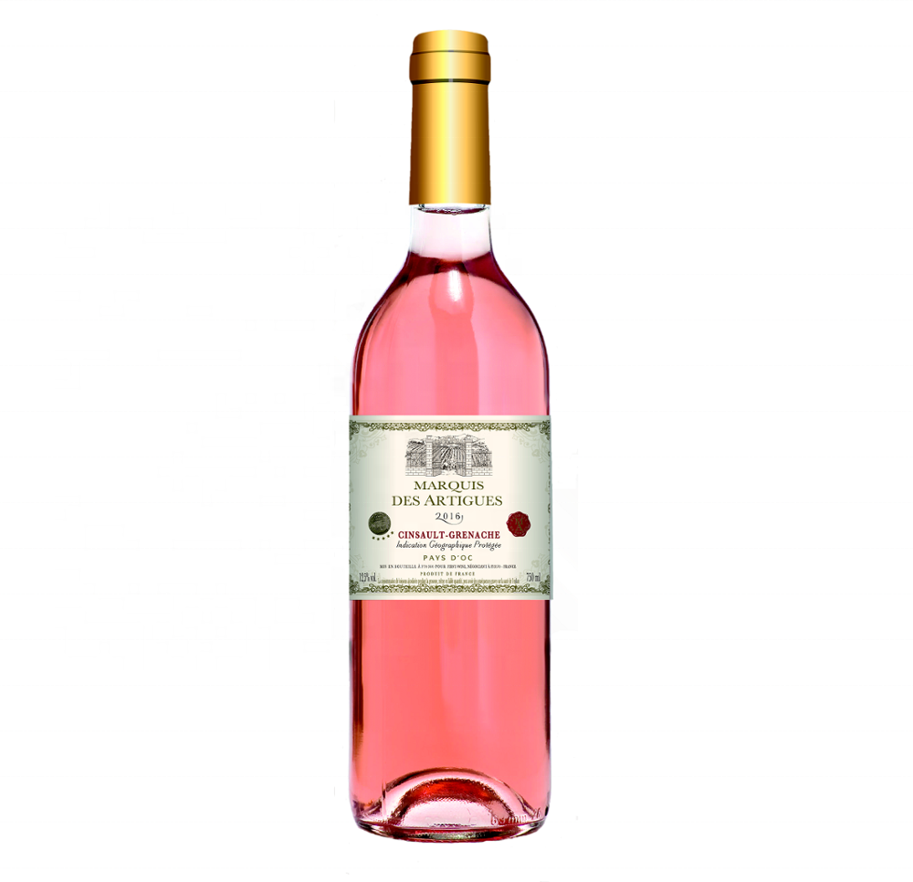 Marquis des Artigues Cinsault Grenache rose IGP OC high quality french wine