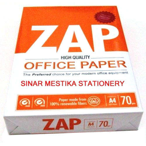 Super White Zap A4 Copier Paper 80gsm,75gsm and 70gsm