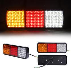 LED Truck Tail Light Lamp Bulb Van Car Tractor Tail Light Rear Lamp 75 LED 12V/24V PA