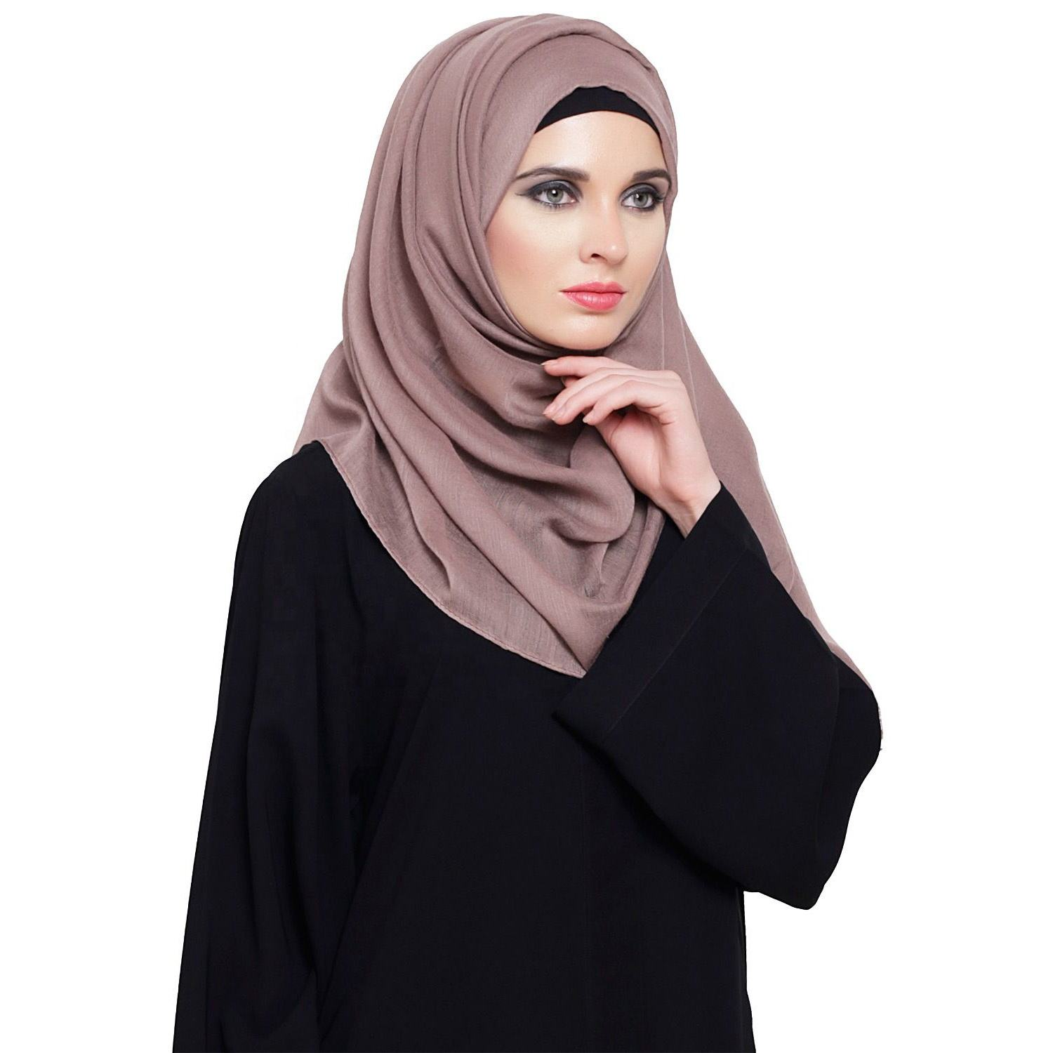 new breathable latest style long length New Fashionable Scarf Plain Chiffon Scarf Women Hijab