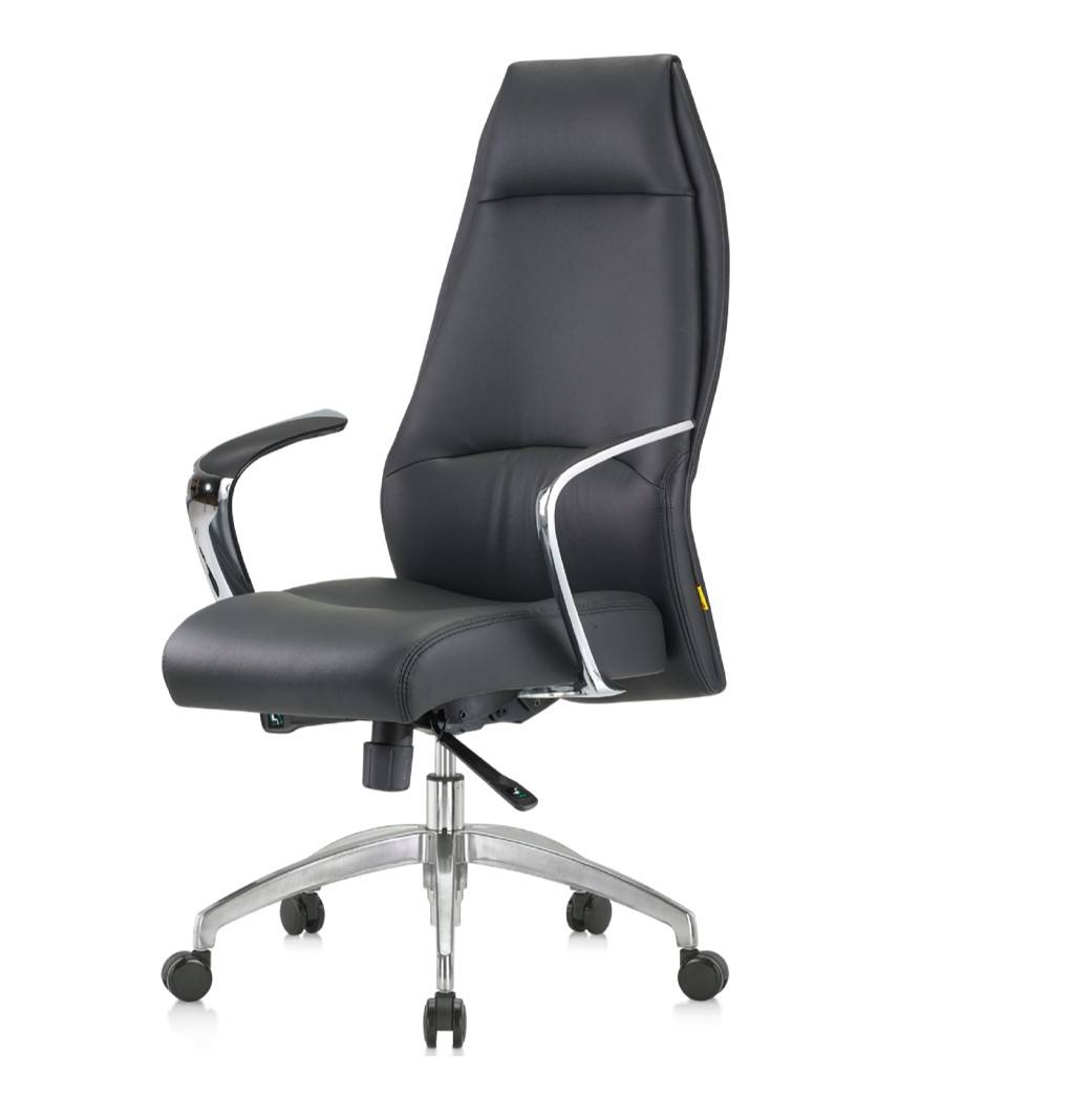 Enhanced Quality Fenno Series Aluminium 5 Prong Base Director Office Swivel High Back Synthetic Leather Chair
