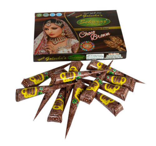 Best Quality Choco Brown Henna Cones For Occasions