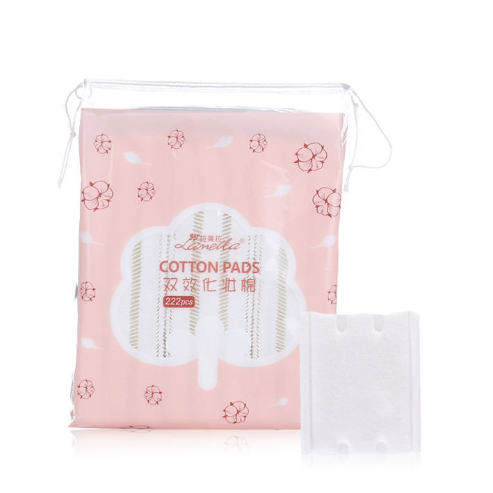 Custom sandwich cotton 222 sheets non-woven fabric eco friendly cosmetic microfiber organic cotton makeup remover pads
